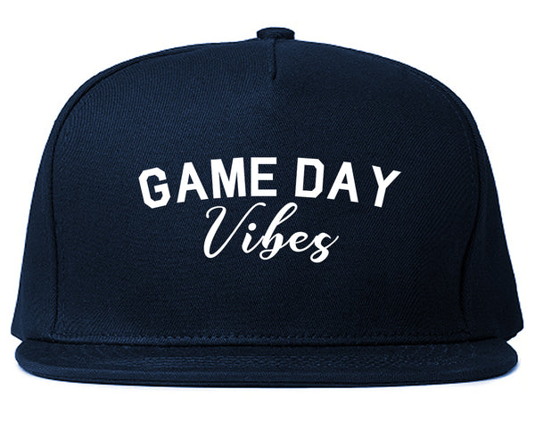 Game Day Vibes Blue Snapback Hat
