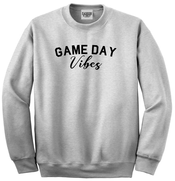 Game Day Vibes Grey Crewneck Sweatshirt