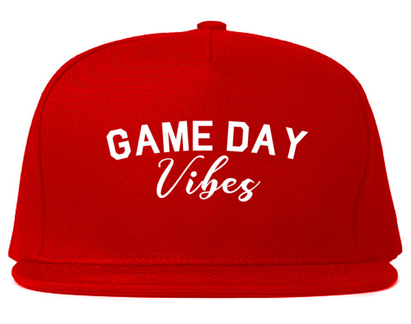 Game Day Vibes Red Snapback Hat