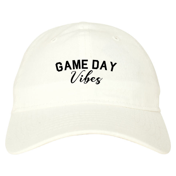 Game Day Vibes White Dad Hat