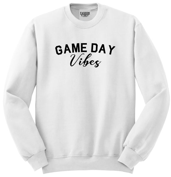 Game Day Vibes White Crewneck Sweatshirt