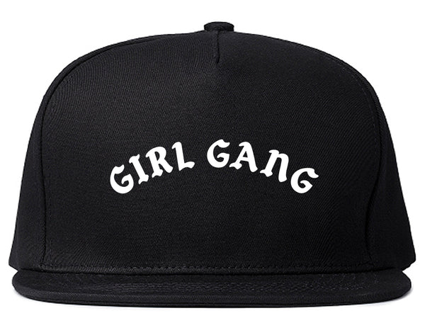 Girl Gang Squad Snapback Hat Black