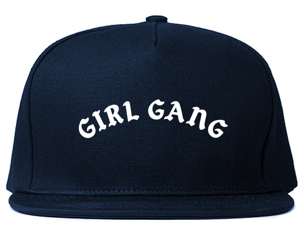 Girl Gang Squad Snapback Hat Blue