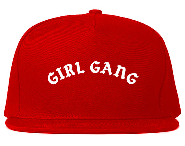 Girl Gang Squad Snapback Hat Red