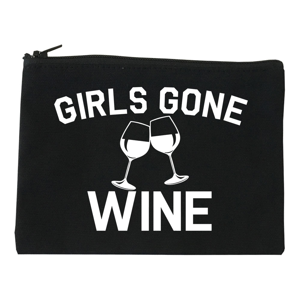 Girls Gone Wine Funny Bachelorette Party Black Makeup Bag