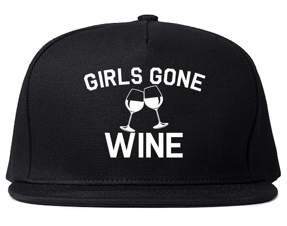 Girls Gone Wine Funny Bachelorette Party Black Snapback Hat