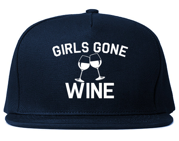 Girls Gone Wine Funny Bachelorette Party Blue Snapback Hat