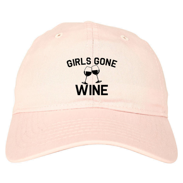 Girls Gone Wine Funny Bachelorette Party Pink Dad Hat