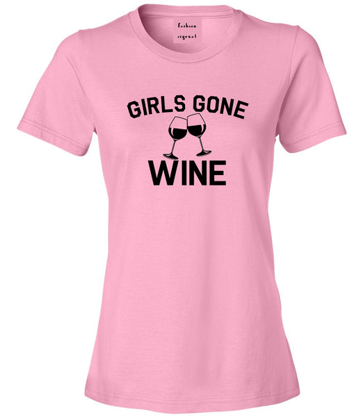 Girls Gone Wine Funny Bachelorette Party Pink T-Shirt