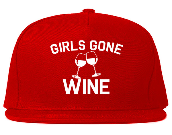 Girls Gone Wine Funny Bachelorette Party Red Snapback Hat