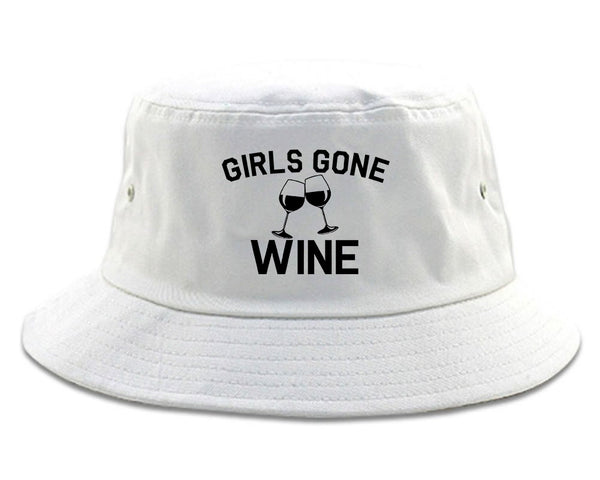Girls Gone Wine Funny Bachelorette Party White Bucket Hat