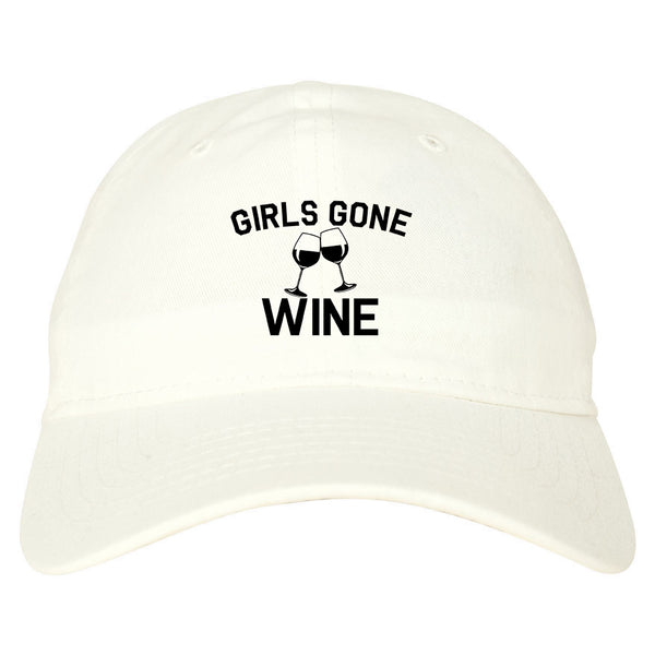 Girls Gone Wine Funny Bachelorette Party White Dad Hat