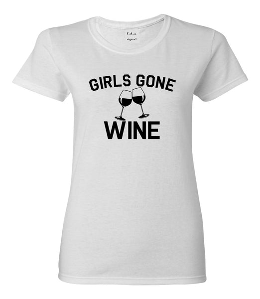 Girls Gone Wine Funny Bachelorette Party White T-Shirt