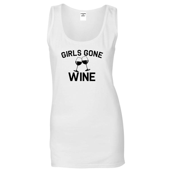 Girls Gone Wine Funny Bachelorette Party White Tank Top