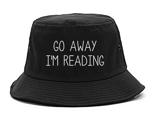 Go Away Im Reading Black Bucket Hat