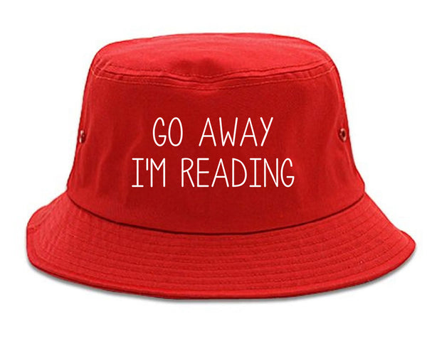 Go Away Im Reading Red Bucket Hat