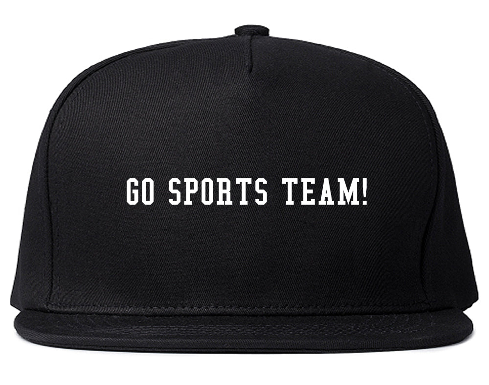 Go Sports Team Black Snapback Hat