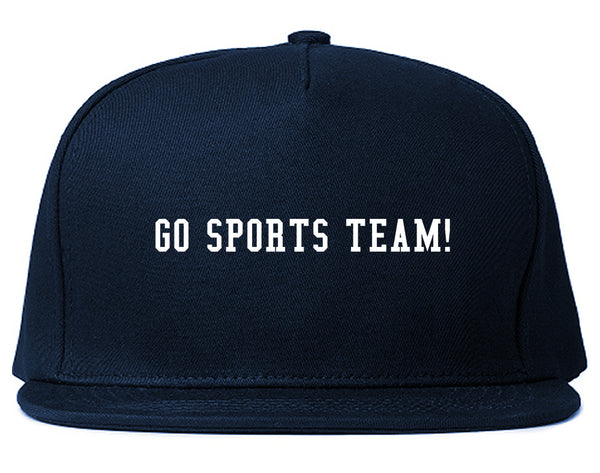 Go Sports Team Blue Snapback Hat