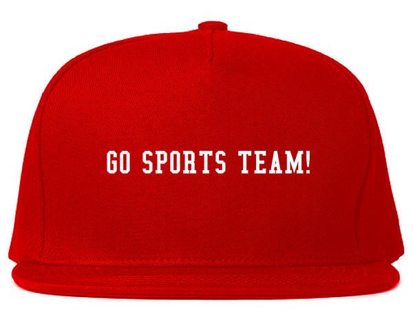 Go Sports Team Red Snapback Hat