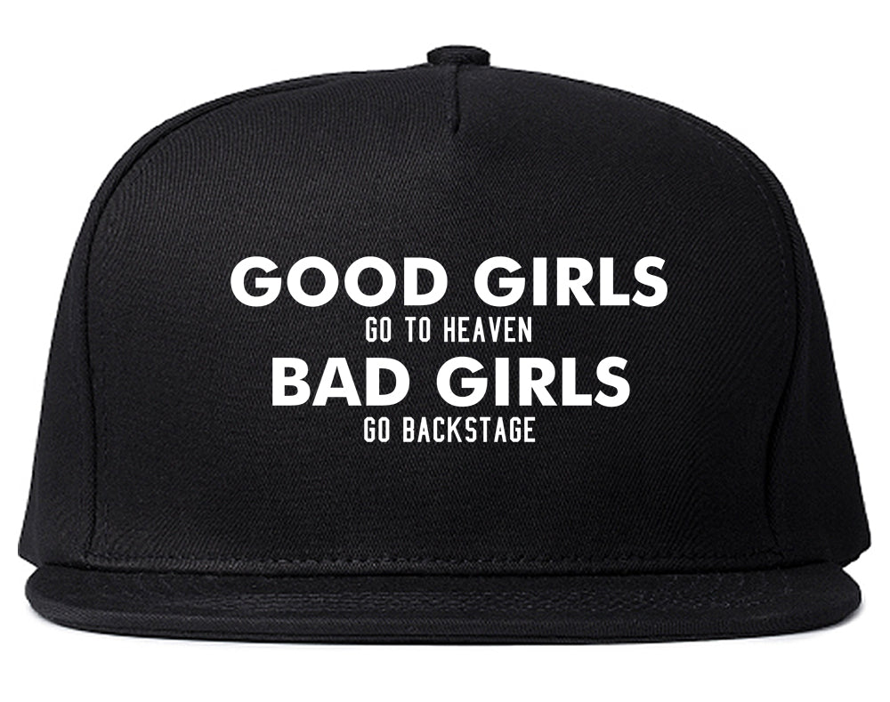 Good Girls Go To Heaven Funny Snapback Hat Black