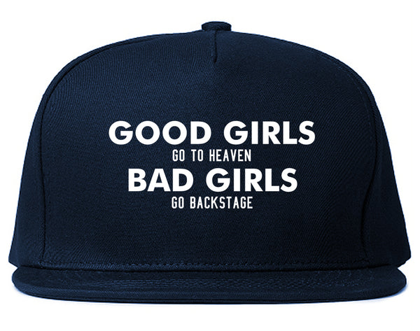 Good Girls Go To Heaven Funny Snapback Hat Blue