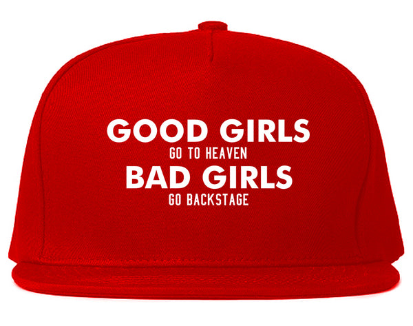 Good Girls Go To Heaven Funny Snapback Hat Red
