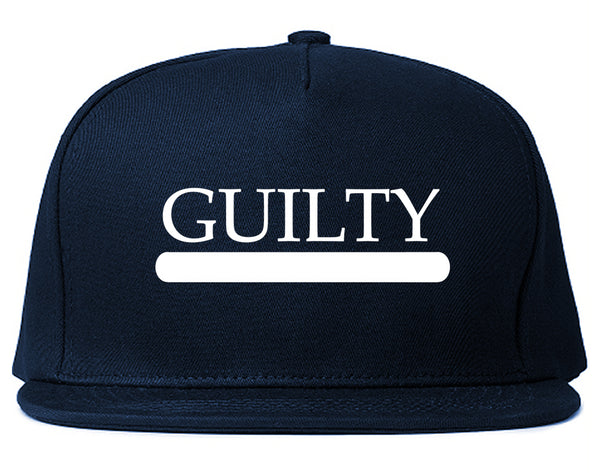 Guilty Fashion Snapback Hat Blue