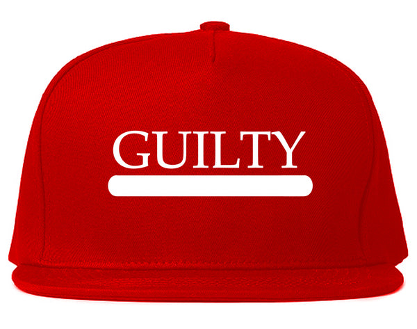 Guilty Fashion Snapback Hat Red