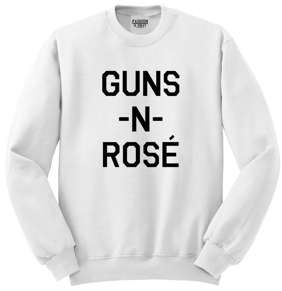 Guns And Rose Funny Concert White Crewneck Sweatshirt