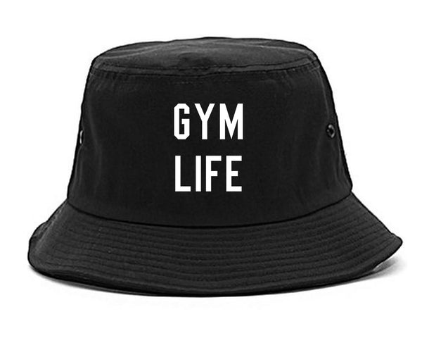 Gym Life Black Bucket Hat
