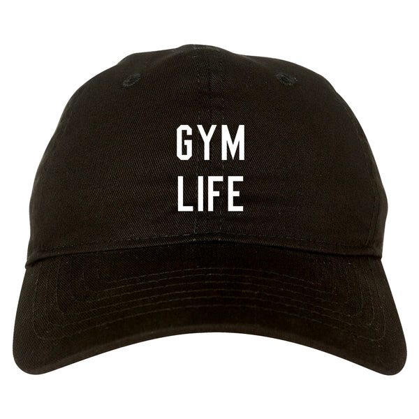 Gym Life Black Dad Hat