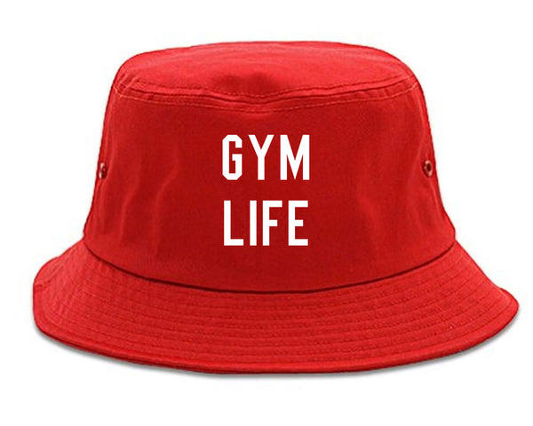 Gym Life Red Bucket Hat
