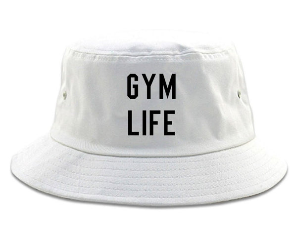 Gym Life White Bucket Hat