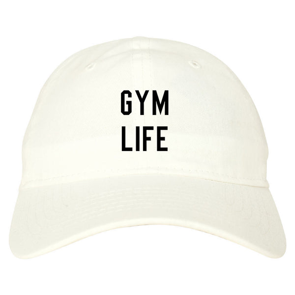 Gym Life White Dad Hat