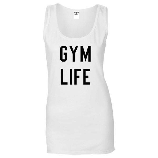 Gym Life White Tank Top