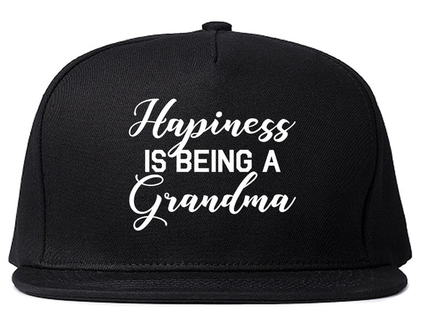Happiness Is Being A Grandma Black Snapback Hat