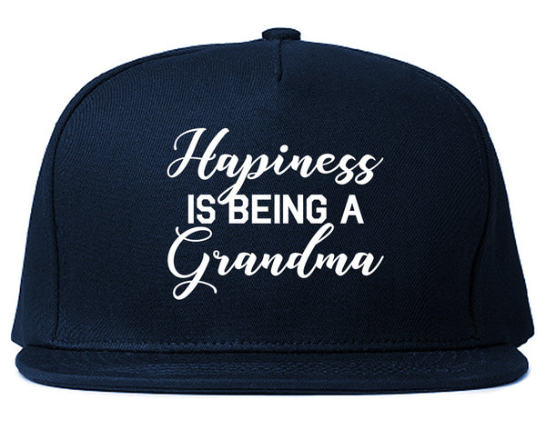Happiness Is Being A Grandma Blue Snapback Hat