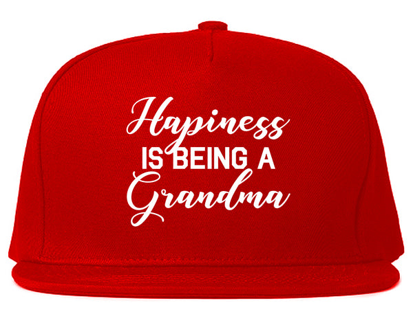Happiness Is Being A Grandma Red Snapback Hat