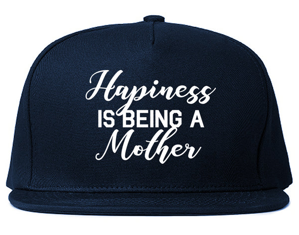 Happiness Is Being A Mother Blue Snapback Hat