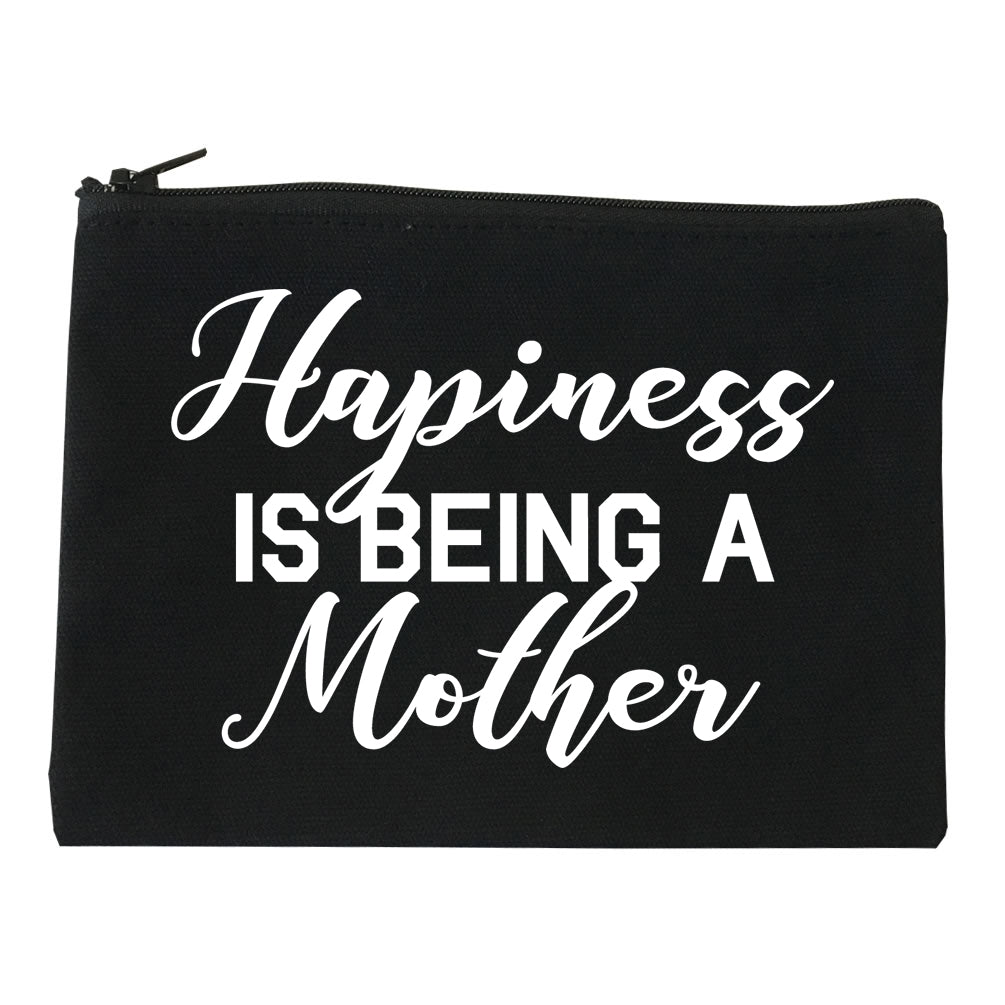 Happiness Is Being A Mother black Makeup Bag