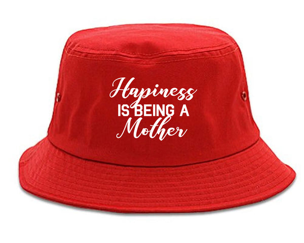 Happiness Is Being A Mother red Bucket Hat