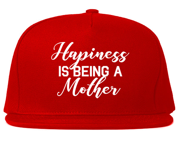 Happiness Is Being A Mother Red Snapback Hat