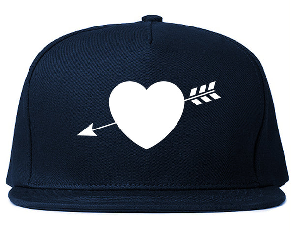 Heart Arrow Cupid Chest Blue Snapback Hat