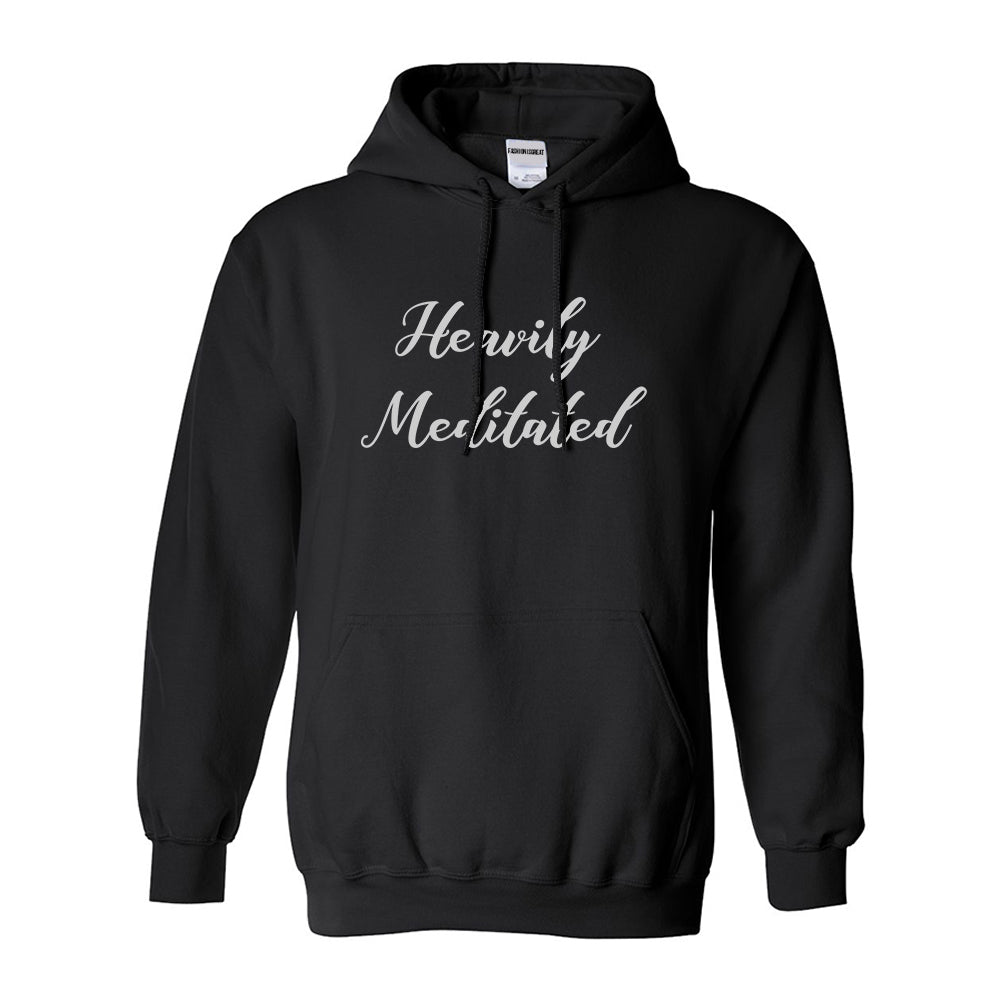Heavily Meditated Meditation Yoga Black Womens Pullover Hoodie