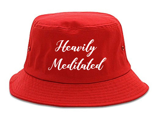 Heavily Meditated Meditation Yoga red Bucket Hat