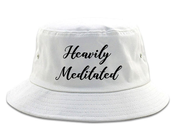 Heavily Meditated Meditation Yoga white Bucket Hat