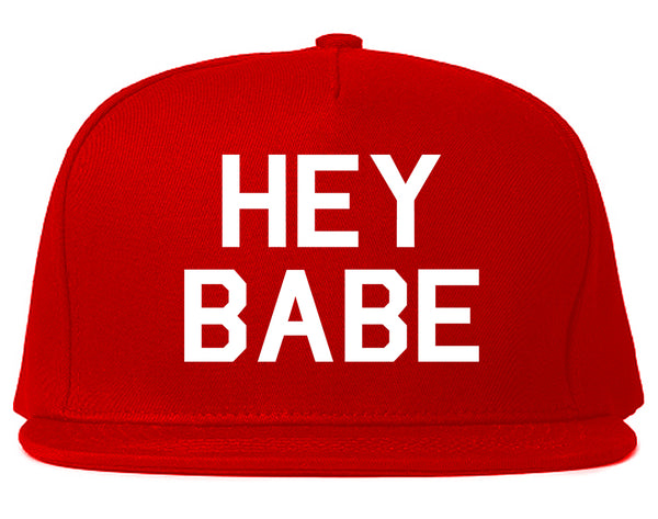 Hey Babe Red Snapback Hat