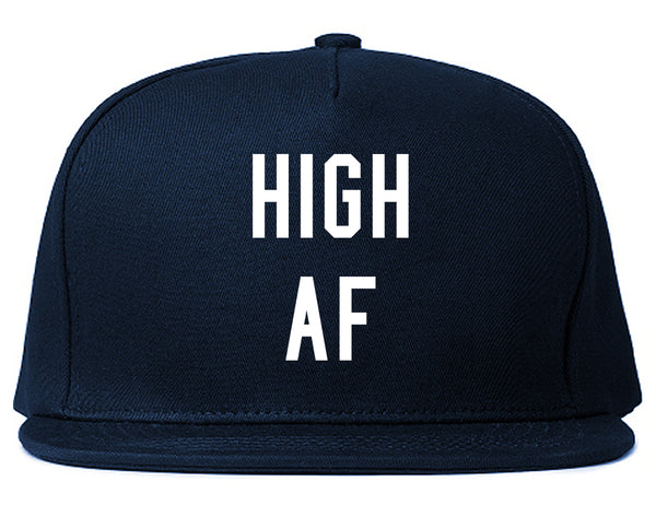 High AF Weed Marijuana Snapback Hat Blue