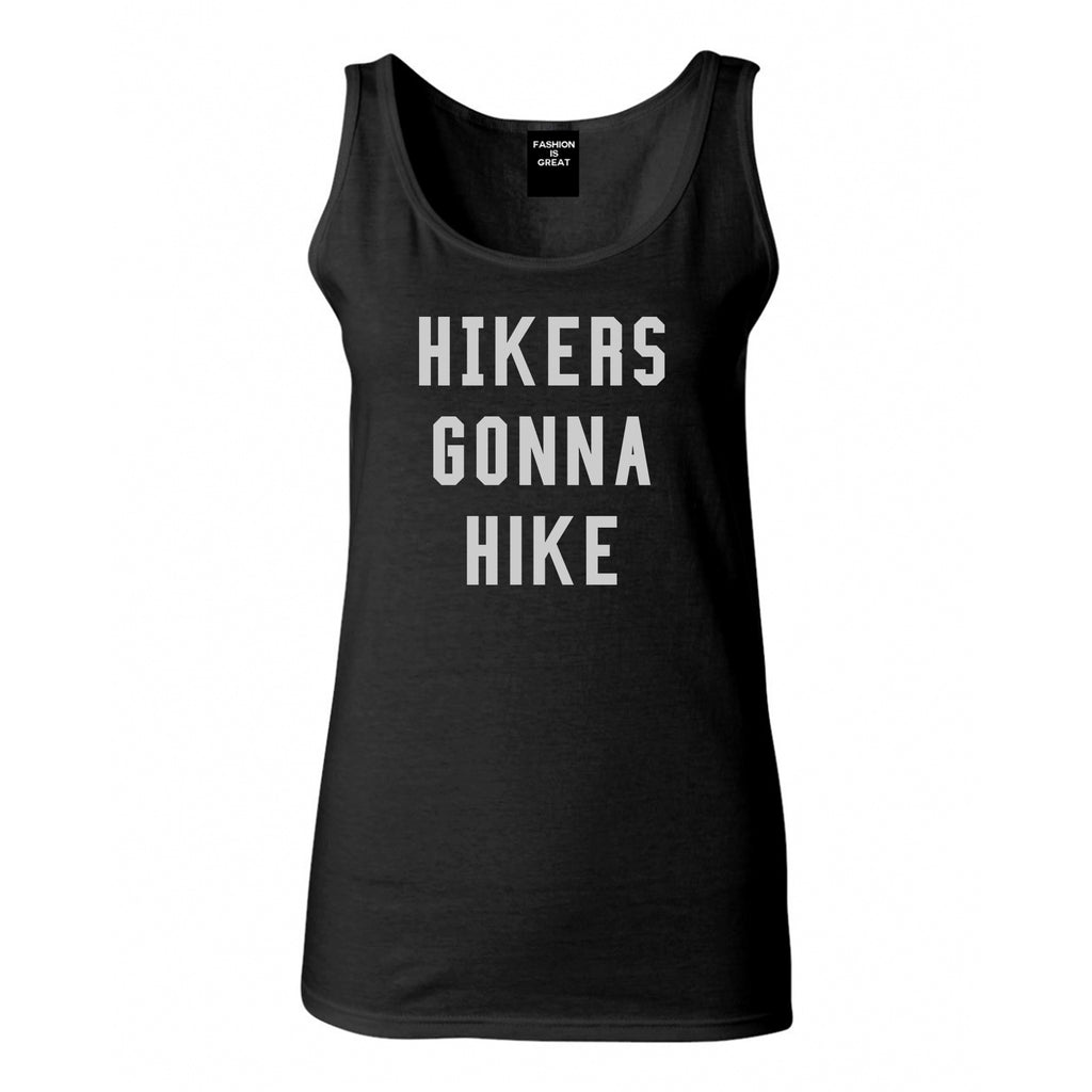 Hikers Gonna Hike Black Tank Top