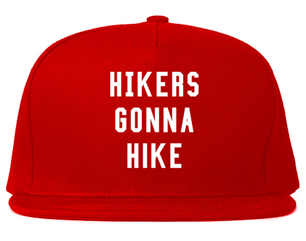 Hikers Gonna Hike Red Snapback Hat